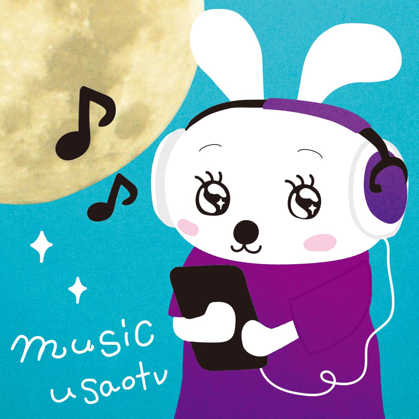music_logo – 白と水色のカーネーション