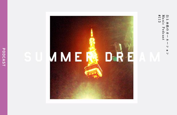 #113【真夏の夢 – SUMMER DREAM】を考える。 PLAY MUSIC:OLD LACY BED,WYLDER – 白と水色のカーネーション